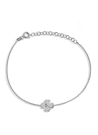 Argentum Concept Zirkon Taşlı Gümüş Çiçek Bileklik - B053301 Gümüş